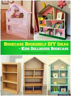 Bookcase Bookshelf DIY Ideas Free Plan DIY Kids Dollhouse Bookcase Instructions Free Plan<br> Bookcase Bookshelf DIY Ideas Free Plans: Build Your Own Bookcase Door, Dollhouse Bookshelf, Or Make Cabinet Over into New Bookcases.