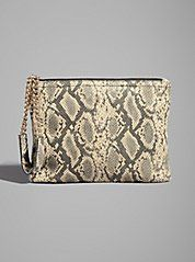 Kaylan Snake-Print Top Zip Pouch at Guess Pouch, Wallet, Guess By Marciano, Guess Jeans, Snake Print, Shoes Online, Zip, My Style, Bags