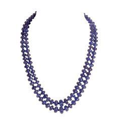Tanzanite and Sapphire Necklace