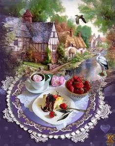 Beautiful Romantic Pictures, Beautiful Gif, Beautiful Roses, Good Morning Coffee, Good Morning Picture, Good Morning Images, Hug Images, Happy Birthday Wishes Cake, Scenery Paintings