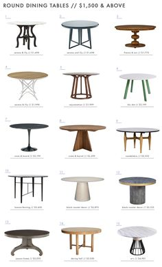 A Roundup of 126 Dining Tables for Every Style and Space - Emily Henderson