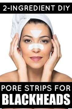If you're looking for a good blackhead remover that won't cost you an arm and a leg, you've come to the right place! These DIY 2-ingredient pore strips will teach you how to get rid of blackheads and minimize your pores for gorgeous, flawless skin!