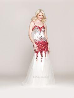 BG Haute Spring/Prom 2014 style #G3308 White/Red. www.bghaute.com
