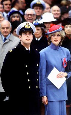 Prince Andrew and Princess Diana /****Amazing how many pictures of Diana and Andrew have surfaced. It seems he was more solicitous of her needs than Charles ever was. I'm not implying inappropriate, not in the least. He was there, she was there, it was just natural.  Again, we're left without info RE where they are or what they're looking at above them.wrote one pinner