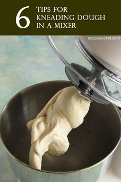 Tips for kneading dough in a mixer. If the thought of hand kneading dough has put you of making bread, have you considered kneading dough in a mixer. A stand mixer does all the hard work for Bread Machine Recipes, Bread Recipes, Skillet Recipes, Baking Recipes, Baking Substitutions, Pizza Recipes, Dinner Recipes, Stand Mixer Recipes, Pizza Dough Recipe Stand Mixer