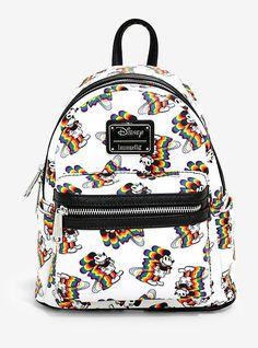 ff552081635 Loungefly Disney Mickey Mouse Rainbow Mini Backpack