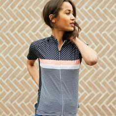 Chapeau Women Short Sleeve Jersey Madeleine Stripe Mix Caviar  9f62d4e12