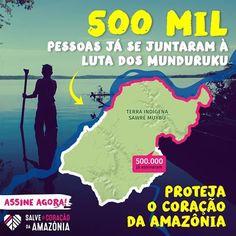 Obrigado! \o/ Mais de 500 MIL pessoas estão ajudando a proteger o <3 da Amazônia! Mas a luta ainda não acabou! Ajude os Munduruku assinando a petição >> LINK NA BIO << #SalveOTapajós #SalveAmazônia #SaveTheAmazon #Tapajós #Amazônia #Brasil #Barragem #Hidrelétrica #Nature #Munduruku #Floresta #Forest #Amazon #Brazil