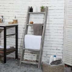 August Grove® 4 ft Blanket Ladder | Wayfair Diy Ladder, Wood Ladder, Ladder Decor, Ladder Racks, Barn Wood Decor, Rustic Decor, Farmhouse Decor, Rustic Charm, Modern Farmhouse