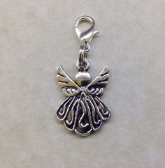 GUARDIAN ANGEL KEYRING - Tibetan Silver - Key Fob - Bag - Zip - Handbag CHARM | eBay