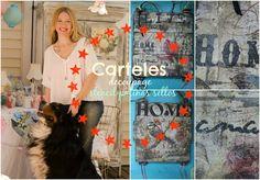Como hacer carteles vintage - Patinas-decoupage-stencil-sellos ♥ Marina ...