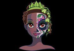 Princesas Disney com Caveiras Mexicanas