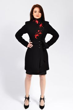 Luca is a unique and elegant jacket wearable with select occasions. it has a romantic and feminine look that brings personality to your frame. It has winter lining for a warm wear.  The products are made to order so any size will be ready for shipping in 2-3 weeks after payment.  If you