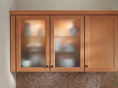 Frosted Glass Inserts From Waypoint Living Spaces Shown In Style 410 In  Maple Spice. Glass Cabinet DoorsGlass ...