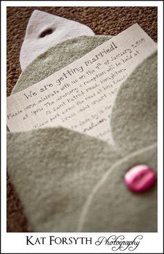 Jade Craig Wedding Invitation. This is a really cute idea for an invitation!!!