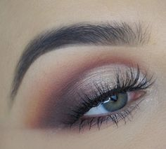 Brown and Purple Eye Make up