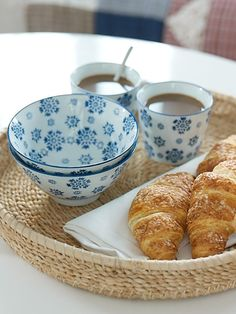 Morming coffee,croissants and some beautiful ceramics