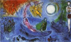 The dignity of the artist lies in his duty of keeping awake the sense of wonder in the world. Marc Chagall. The Concert. 1957
