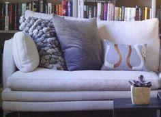 Wool ball cushion