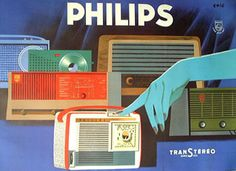 Vintage Philips Blue Hand Poster