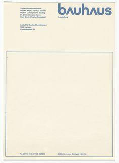 Herbert Bayer. Bauhaus Ausstellung letterhead. 1967