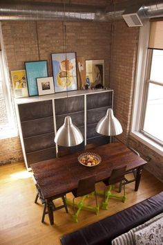 Living With Less Means More-990 sq. ft. Loft small home organization, love the minimalist styling