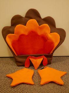 Home made turkey costume - tail, beak and feet