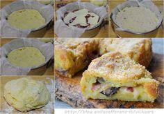 Torta salata patate salame e funghi ricetta facile vickyart arte in cucina