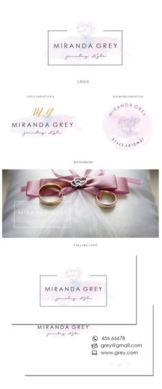 Logo design  Premade wedding logo logo  Pink by JassnaDesign