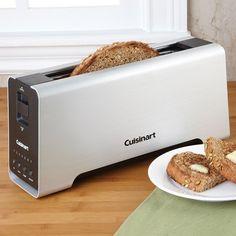 Cuisinart 2 Slice Aluminum Long Slot Toaster - $93 #kitchen #breakfast #cook #eat #bread #premium #function #LED