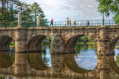 Roman bridge in chaves, almost 2000 years old - Portugal Portugal Location, Dear World, Cultural Events, Azores, Lisbon Portugal, Mexico Travel, Roman Empire, Historical Sites, Brooklyn Bridge