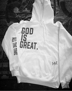 Image of God is Great Hoodie Christian Hoodies, Christian Clothing, Trendy Hoodies, Cool Hoodies, Streetwear, Disney Inspired Fashion, Disney Fashion, Fandom Fashion, Personalized T Shirts