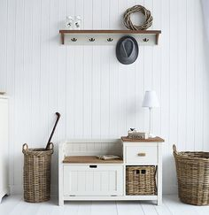 Cecorate you hall in Nordic style with hallway furniture and accessories from The White Lighthouse