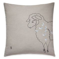 product image for ED Ellen DeGeneres Sheep Square Throw Pillow in Grey