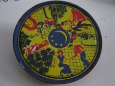 Tin Metal Noisemaker VTG Life of the Party Made in USA Red Blue Yellow Couples
