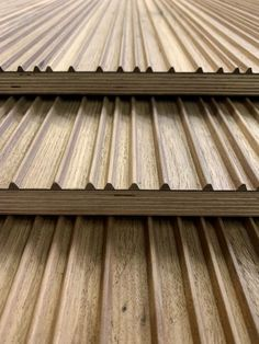 We give you the Possibility to customise your unique machined panel / give you the opportunity to customize your milled panels. Wooden Panelling, Wood Slats, Timber Cladding, Wall Cladding, Wall Pannels, Joinery Details, 3d Panels, Kitchen Room Design, Wood Detail