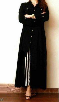 Indian Bollywood Kurta Kurti with Palazzo Women Ethnic Dress Set Top Tees BottomRayon Front Slit Kurti with Stripe PantBlack A-line Kurti Indian Designer Outfits, Designer Dresses, Front Slit Kurti, Fashion Pants, Fashion Dresses, Black Kurti, A Line Kurti, Frock For Women, Western Dresses For Women