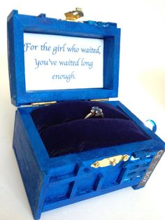 Doctor Who Ring Box Desk Accessories Wood Engagement Proposal Box