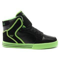 Supra Skate Shoes Vaider Blue/Green Men Shoes High Tops