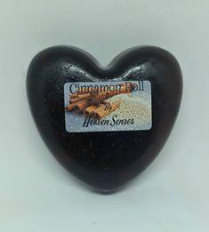 Cinnamon, heart shaped, scented soap bar by Heaven Senses. by HeavenSenses on Etsy