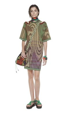 #MMissoni | Cotton moiré dress | Summer 2014 Collection
