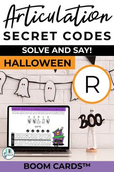 This fall themed articulation secret codes/puzzles BOOM CARDS™ deck is a fun way to practice the R sound in speech therapy or teletherapy. This set articulation activities includes 4 fall themes including back to school, fall, halloween, and Thanksgiving . - Kiwi Speech #RSpeechtherapy #articulation Articulation Therapy, Articulation Activities, Speech Therapy Activities, Language Activities, Social Skills Lessons, Fall Themes, Secret Code, Speech And Language, Fall Halloween