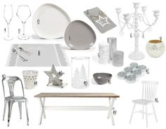 Mesa de Navidad bonita, práctica y nórdica! : via MIBLOG