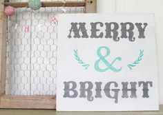 Merry And Bright Christmas Sign!