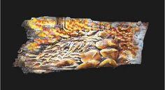 Autumn Falls - Original mixed-media painting by Jack A. Birch Bark, Charcoal Drawing, Mixed Media Painting, Fine Art Gallery, Paintings, Autumn, Art Prints, Drawings, Art Impressions