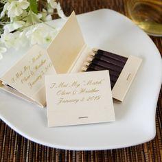 100+ Unique and Cheap Wedding Favor Ideas Under $2 » Personalized Wedding Matchboxes