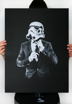 Smart trooper -  Star Wars Art Screen printed poster ( Storm trooper print, Star Wars print ). $16.00, via Etsy.