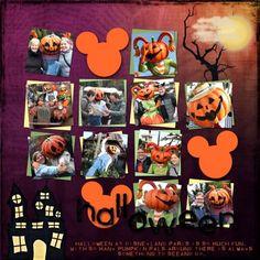 Disney Halloween scrapbooking