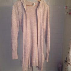 Hooded Roxy tie sweater. Super cozy, long, tie waist Roxy hooded sweater. Worn a handful of times. Roxy Sweaters