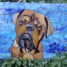Dog portrait mosaic,made by Joolz mosaic art. Mosaic Art, Mosaic Glass, Stained Glass, Mosaic Animals, Dog Portraits, Scooby Doo, Dogs, Fictional Characters, Mosaics